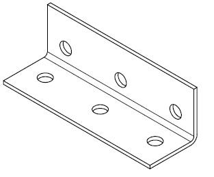 Angle Connectors, Flat Plates, Gal Angle
